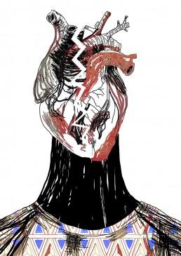 Ilustración corazón roto