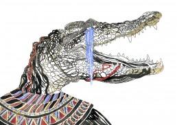 Ilustración lágrimas de cocodrilo